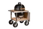 Monolith Classic with stainless steel framed buggy and side shelf