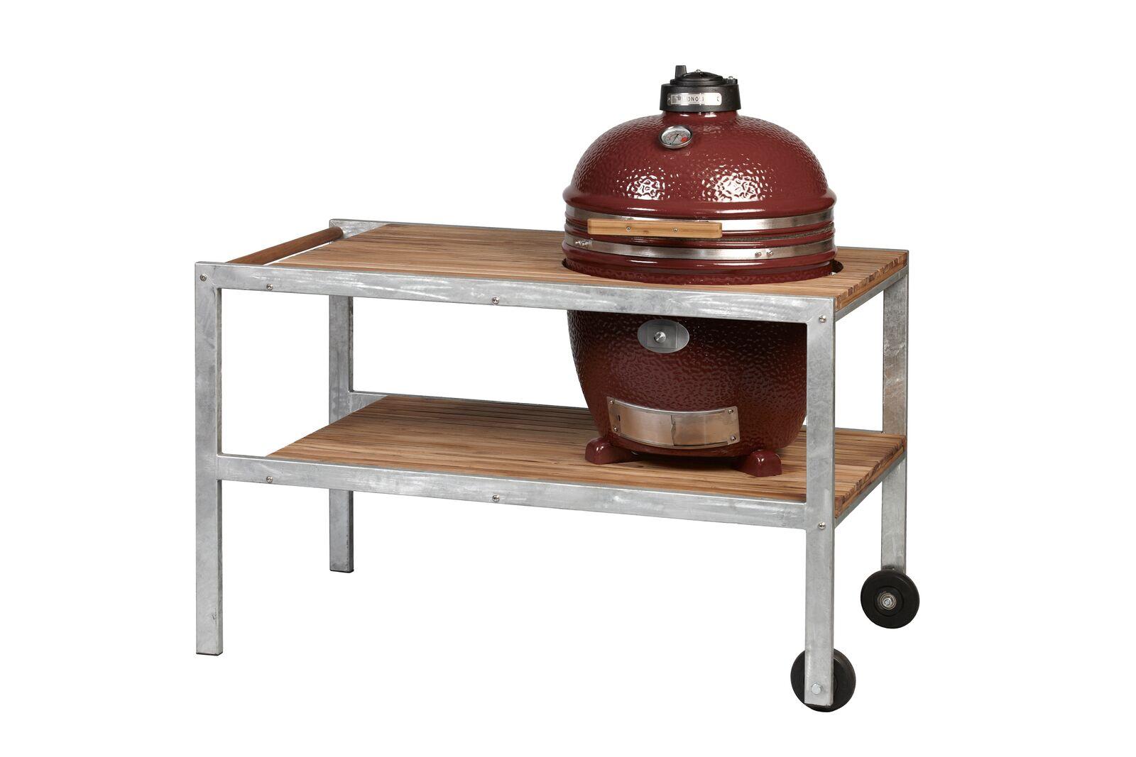 Monolith Classic with galvanised steel framed teakwood table