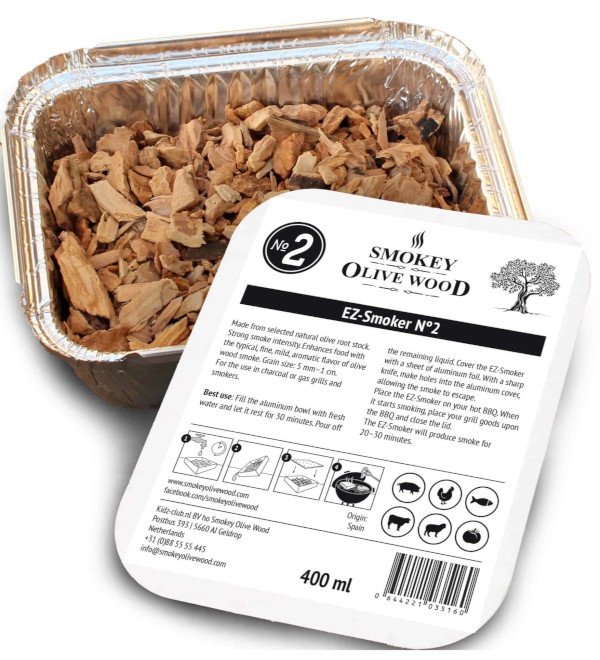 BBQ Wood Chips In A Foil Tray Ready For Use
