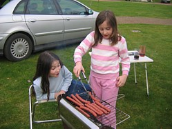 Here Are My Daughters Cooking Merguez