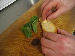Barbecue Idea - Rub the toast with garlic