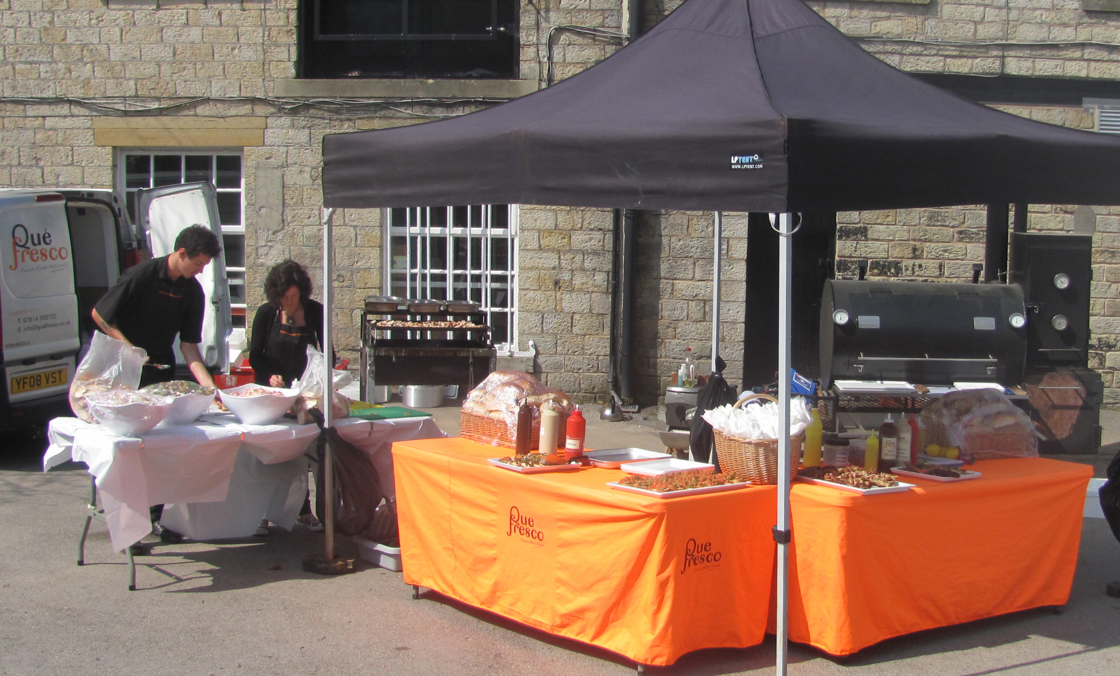 The BBQ Catering Lancashire set up