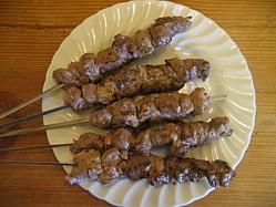 Lamb on a skewer. That makes it a shish kebab.