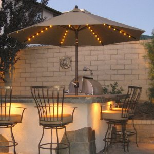 Finding the right patio umbrellas for Balcony lights