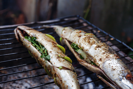 Stuff the cavity for the simplest of barbecue fish recipes