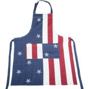 stars and stripes grill apron