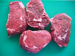 Check out the fat marble in these ribeye steaks
