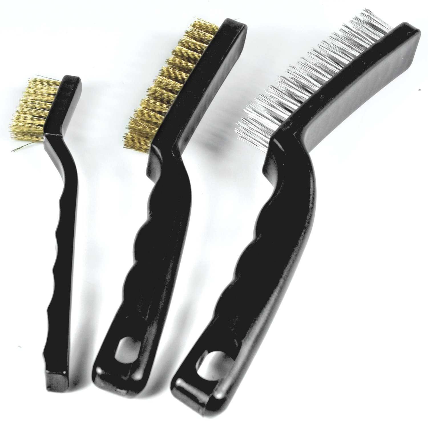 Wire grill brushes