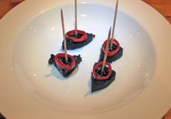 Black pudding with chilli