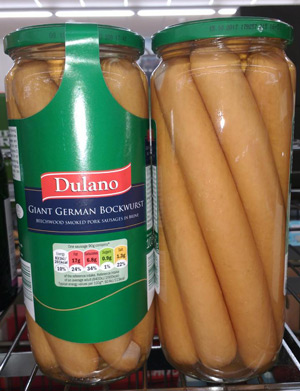 Supermarket Bockwurst Sausage