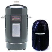 Image Of Brinkmann Gourmet Smoker With Vinyl Cover