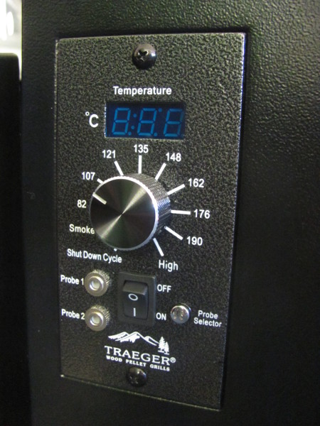 The Traeger Bronson 20 has the capability to fit 2 meat probes