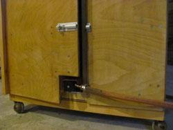 Build A BBQ Smoker Firebox Door So It Doesn't Foul The Burner Neck