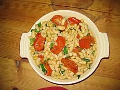 Roasted Cannellini Bean Salad