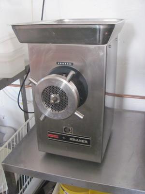 Braher commercial meat grinder