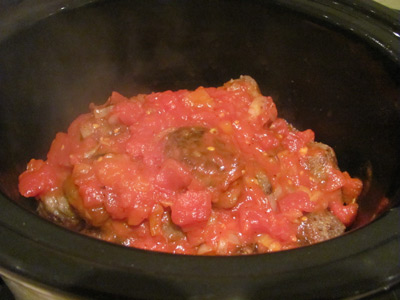 Italian Style Crock Pot Barbecue Meatballs