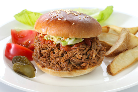 Crock Pot Pulled Pork In A Bun