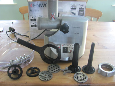 Kenwood electric meat grinder for making homemade sausage