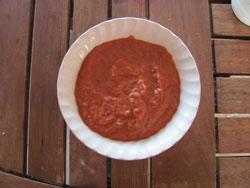 homemade barbecue sauce ready to be used