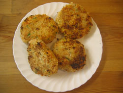 Grilled trout fish cake