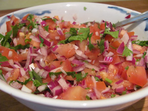 Check out how fresh this fish taco salsa looks