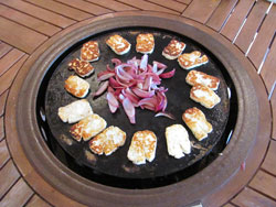 Halloumi grills best on the hotplate