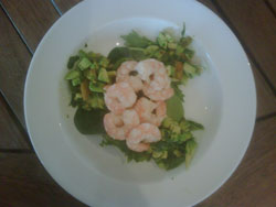 Here's the finished article with an avocado salad