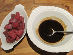 The grilled steak marinade is ready for action