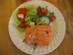 Barbecue Grilled Salmon Trout Recipe