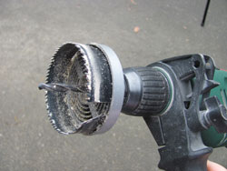 Use A Drill Attachment Like This To Drill The Holes