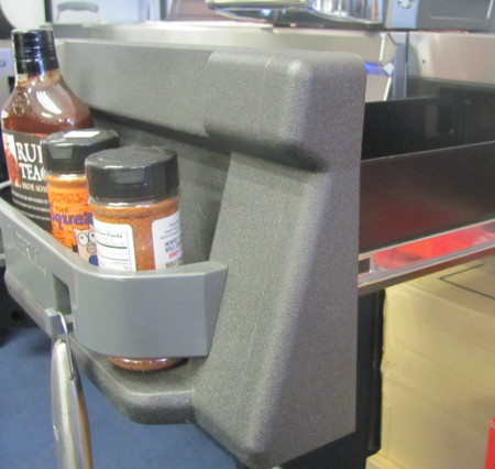Broil King Imperial condiment rack in the drawer front