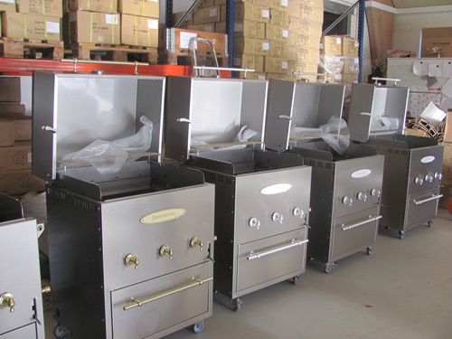 Jensen outdoor bbq grill quality control line