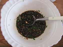 Thai sweet chilli marinade for grilled chicken