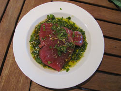 Lovely lively colors in this marinade