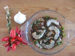 And here's the marinade for shrimps