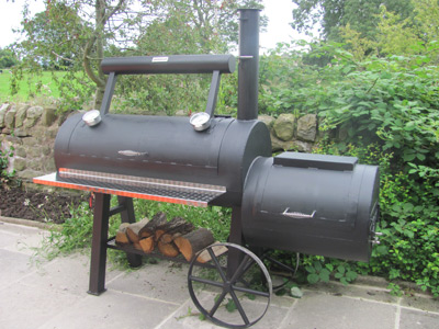 Offset reverse flow smokers UK made