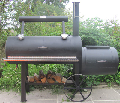 Example of an offset smoker