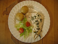 Plank Cooked Fish