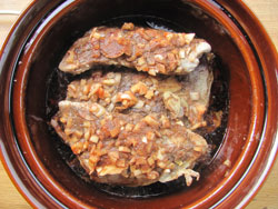 Slow Cooker Barbecue Pork Ribs Ready For Serving