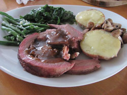 smoked beef brisket with Guinness gravy