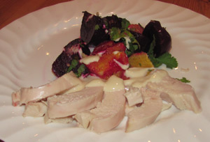 Smoked Chicken Salad With Beetroot & Orange