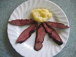Smoked Duck Breast With Apple Sauce