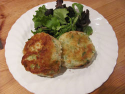 Smoked Haddock Fishcakes With A Green Leaf Salad