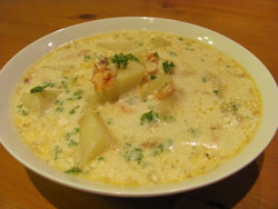 Warm And Hearty Smoked Salmon Chowder
