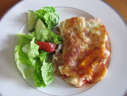Smoked Salmon Lasagne With A Green Salad