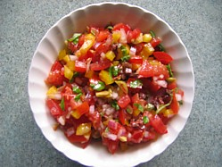 Red Pepper And Tomato Salsa