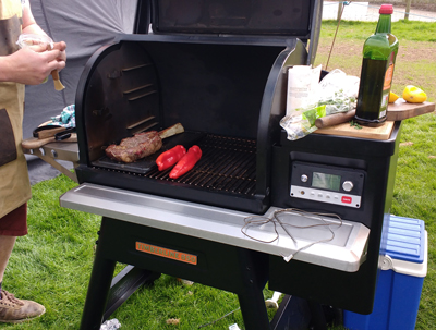 The Traeger Timberline 850 boasts little shelf space
