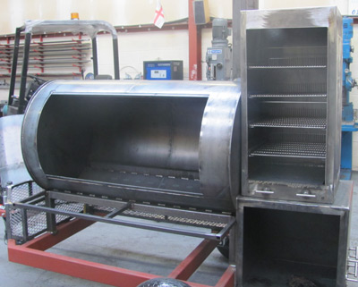 vertical smoker warming oven