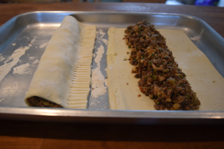 Stuffing the Puff Pastry
