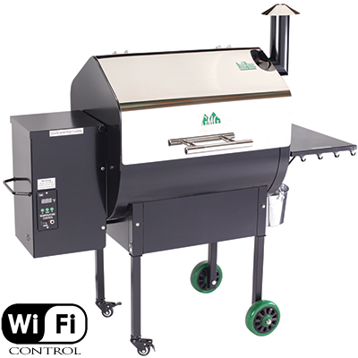 Green Mountain Grills Daniel Boone wood pellet smoker with WiFi control